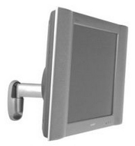 Chief FWSVS Universal Flat Panel Single Swing Arm Wall Mount (10 inch-32 inch Displays) - Silver