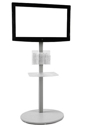CiERA EZ StandTall Portable TV Stand 70 Inch Tall for 28-70 Inch TV's - Silver