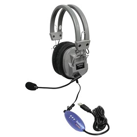 Hamilton Electronics HA5USBSM Deluxe USB Headphone with Microphone