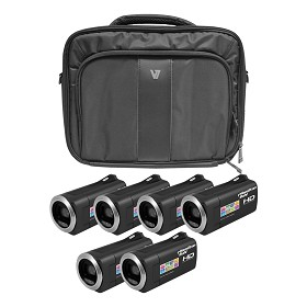Hamilton Electronics HDV5200-6 HD Camcorder Explorer Kit with 6 Cameras, Software and Case