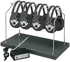 Hamilton HH/W4-BT Wireless Listening Center, 4 Station with Headphones and Bluetooth Transmitter, Multi Frequency with Rack
