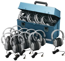 Hamilton Electronics HMC/24/HA7 Lab pack w/ 24 HA7 Headphones in Large Carry Case
