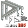 Draper 227214 10 or 14 inch Wall Brackets - White
