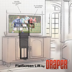 "Draper 300500 FSL-F-42 Flat Screen Lift for TV's up to 42"" Diagonal"