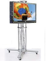 CiERA EZ Fold Duo™ Dual Flat Panel Stand for 42-70 Inch TV's - Silver
