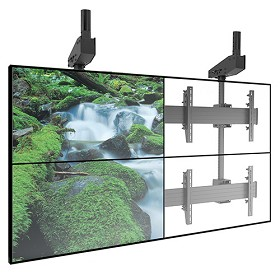 Chief LCM2X2U FUSION Micro-Adjustable Large Ceiling Mounted 2 x 2 Video Wall Solutions
