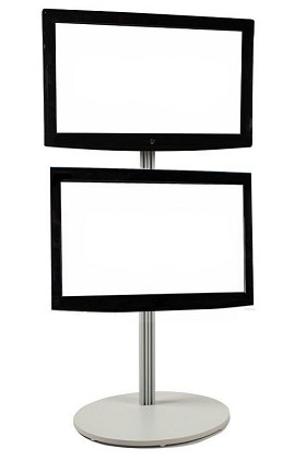 CiERA EZ StandTall Portable 70 Inch Tall Flat Panel Display Stand for 28-40 Inch TV's and Monitors - Silver