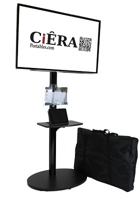 NEW! CiERA EZ StandTall ONE Portable 70 Inch Tall Flat Panel Display Stand for 32-70 Inch TV's - Black