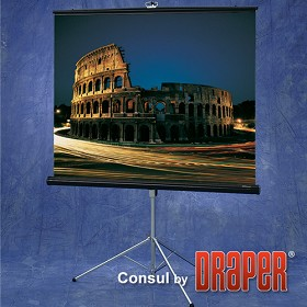 Draper 216005 Consul Portable, 40 in. x 40 in. AV Format Glass Beaded CH3200E Surface