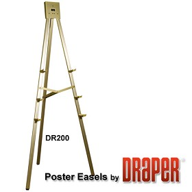 Draper DR220 Poster Easel 6' Non-folding/Gold Anodized