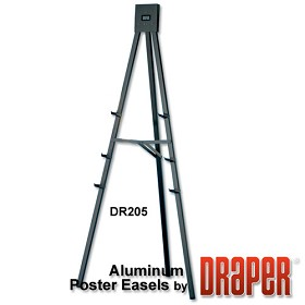 Draper DR205 Poster Easel 5' Non-folding/Black Epoxy Powder Coat