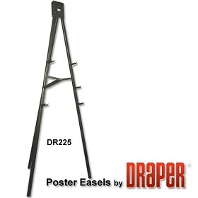 Draper DR225 Folding Poster Easel 6' Black Epoxy Powder Coat