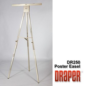 Draper DR250 Poster Easel 6' Folding/Gold Anodized