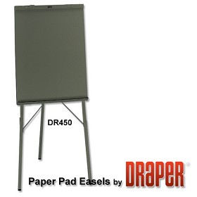 Draper DR450 Paper Pad Easel Black Epoxy Powder Coat