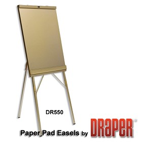 Draper DR550 Folding Paper Pad Easel Gold Anodized