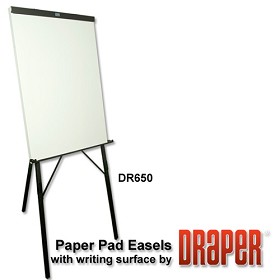 Draper DR650 Writing Surface Easel Black Epoxy with Powder Coat Whitboard