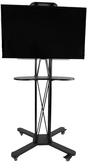 CiERA EZ Fold Mobile Portable TV Stand 85 Inch Tall for 32-70 Inch TV's - Black