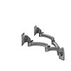 Chief K2W220B Kontour K2W Wall Mount Swing Arms Dual Monitors for 10-30 Inch Monitors - Black