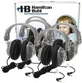 Hamilton LCB/4/HA7 Lab Pack, 4 HA7 Deluxe Headphones in a Laminated Cardboard Carry Case