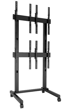 Chief LVM2X2UP FUSION 2 x 2 Portrait Micro-Adjustable Large Freestanding Video Wall Cart