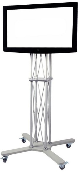 CiERA EZ Fold Mobile Portable TV Stand 85 Inch Tall for 32-70 Inch TV's - Silver