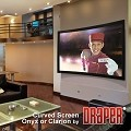 Draper 253374FN Onyx Fixed, 119 in. HDTV Format Pure White XT1300V Surface with Vel-Tex Coated Frame and Custom Curved Screen with a 40 Degree Radius
