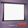 Draper 200099 Premier Series C Manual, 92 in. HDTV Format Matt White XT1000V Surface