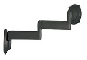 Chief JWDVB Flat Panel Dual Swing Arm Wall Mount (26 inch-45 inch Displays) - Black