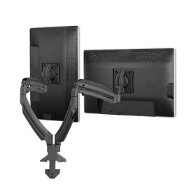 Chief K1D220B Height-Adjustable Dual Arm Dual Monitor Desk Mount - Black