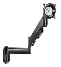 Chief KWG110S Height-Adjustable Dual Arm Monitor Wall Mount (10-30 inch Displays) - Silver