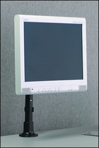 Peerless LCH-100 LCD Screen Height-Adjustable Desktop Mount, direct mounting