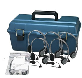 Hamilton Electronics LCP/12/HA2V Lab Pack, 12 HA2V Personal Headphones in a Carry Case