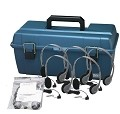 Hamilton Electronics LCP/12/HA7 Lab Pack, 12 HA7 Deluxe Headphones in a Carry Case