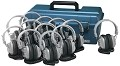 Hamilton Electronics LCP/12/SC7V Lab Pack, 12 SC7V Deluxe Headphones in a Carry Case