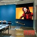 Draper Luma 2 with AutoReturn 50 x 50 Inch AV Format Glass Beaded CH3200E Surface