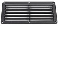 Raxxess LVT-P Passive Large Louvered Vent 5 X 10 Black