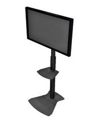 Chief MF1UB Height Adjustable TV Stand - Typical TV Sizes 30 to 70 Inch Includes Universal Mounting Bracket - Black