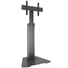 Chief MFAUS Medium Fusion Manual Height Adjustable Floor AV Stand - Silver