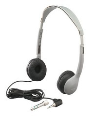 Hamilton Electronics MS-2L SchoolMate Personal Mono/Stereo Headphone with Leatherette