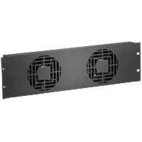 Raxxess NAF32QBA Quiet Fan Panel, 3U, 2 Fans, 120 Cfm, Ba