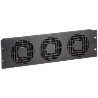 Raxxess NAF33QBA Quiet Fan Panel, 3U, 3 Fans, 180 Cfm, Ba