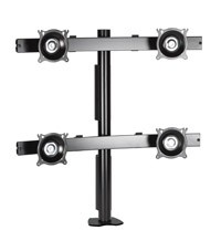 Chief KTC440S Flat Panel Quad Monitor Desk Clamp Mount - Silver