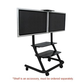 Chief PPD2000 Dual Mobile TV Cart (no interfaces)