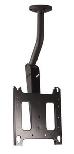 Chief PCM2303 Large Flat Panel Ceiling Mount with Angled Column – Black
