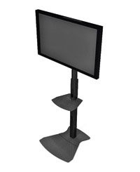 Chief PF1UB Height Adjustable Flat Panel Floor Stand for 42 to 70 Inch Monitors with Universal Mounting Bracket - Black