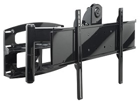 Peerless PLA60-UNLS Security Universal Wall Mount for 37 in.-60 in. Flat Panel Screens - Silver