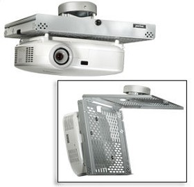 Peerless PSMU-PRS-W Universal Key-locking Projector Security Mount with PRS Projector Ceiling Mount - White