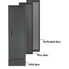 Raxxess NE1D28S E1 Enclosed Rack Door, 28U, Solid Steel Door