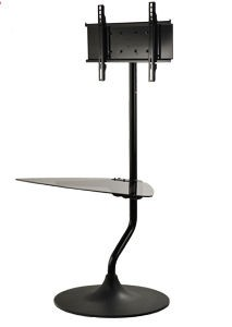 Peerless FPZ-655 Flat Panel Stand with Universal Interface 32 to 55 Inch Displays with One Shelf - Black