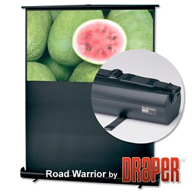 Draper 230049 Roadwarrior 55 in. HDTV Format Contrast Grey XH800E Surface